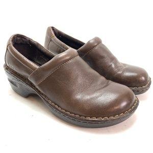 BOC BORN CONCEPT Leather Brown Clogs Comfort sz 9